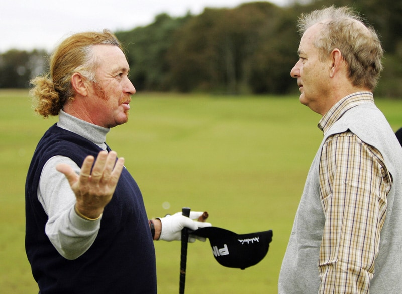 Miguel Angel Jimenez and Bill Murray
