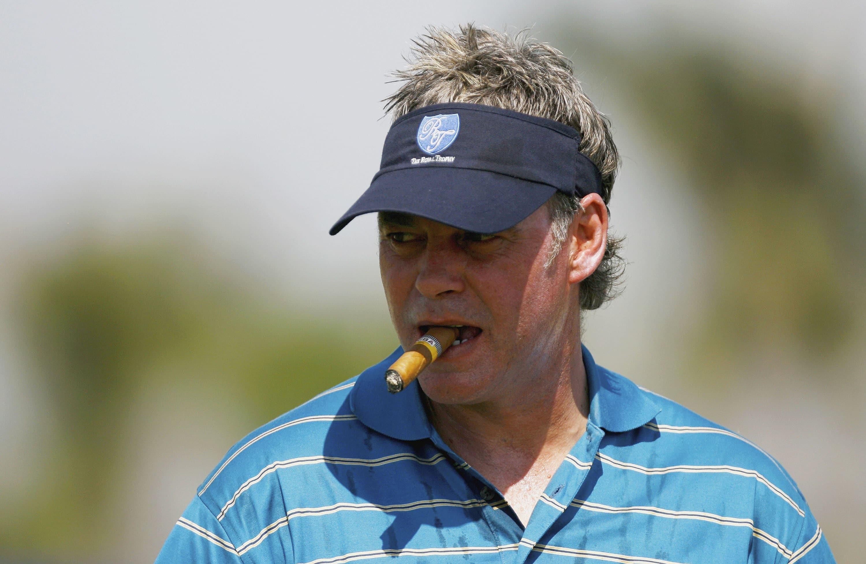 Darren Clarke with his trademark cigar in 2007