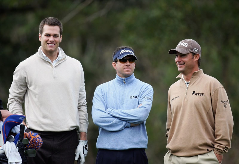 Tom Brady, Billy Andrade and Chris DiMarco