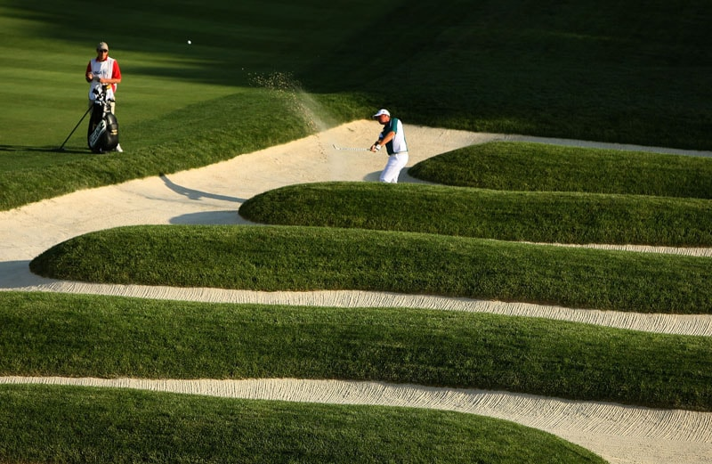 Church Pew bunkers at Oakmont