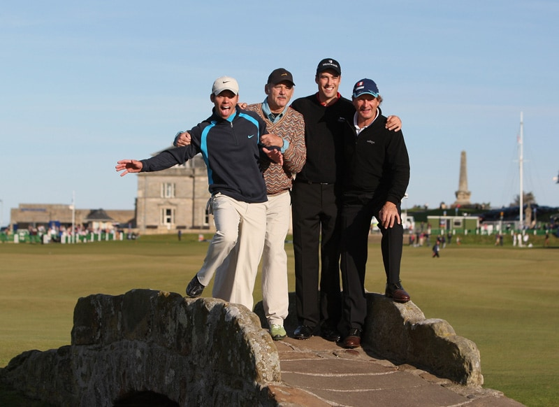 Bill Murray, Paul Casey, Franz Klammer and Ross Fisher