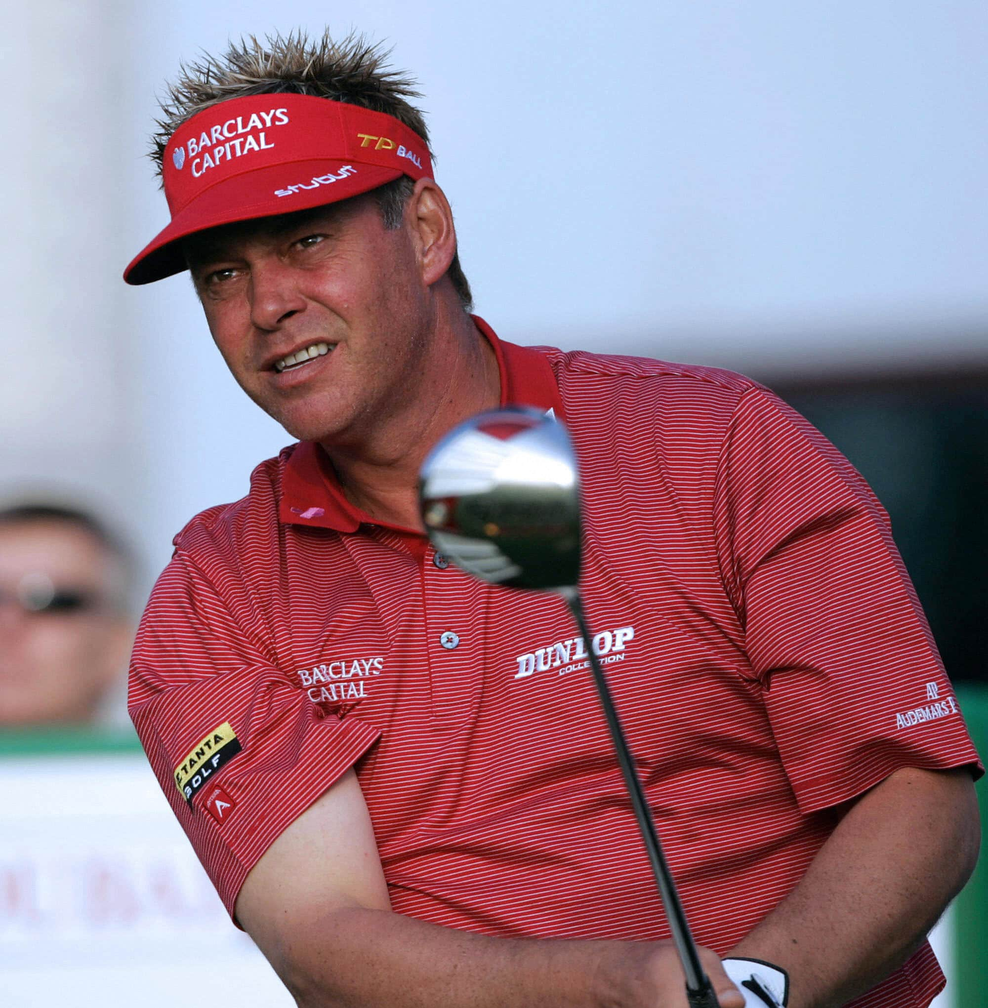 Darren Clarke with a spiked haircut in 2008