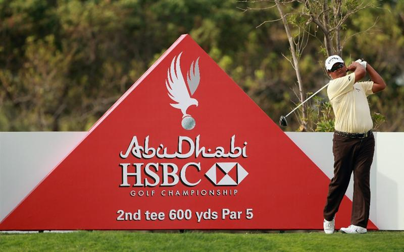ABU DHABI, UNITED ARAB EMIRATES - JANUARY 19:  Michael Campbell of New Zealand in action during the Pro Am prior to the start of The Abu Dhabi HSBC Golf Championship at Abu Dhabi Golf Club on on January 19, 2011 in Abu Dhabi, United Arab Emirates.  (Photo by Andrew Redington/Getty Images)