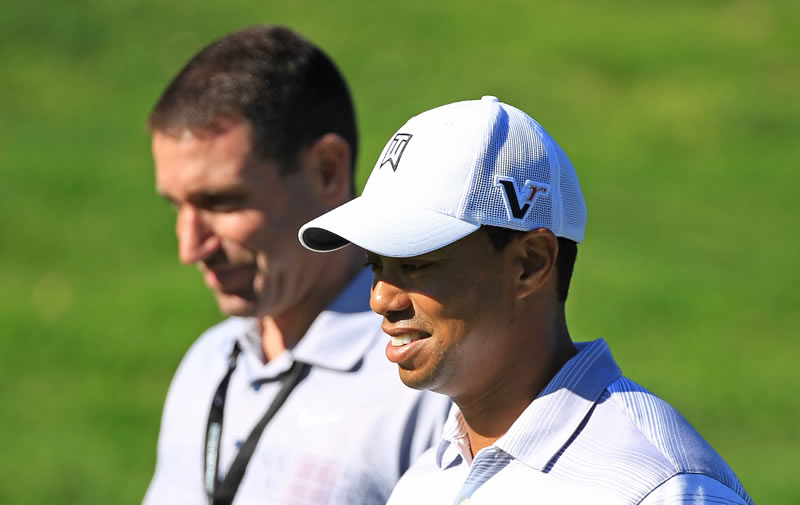 Mark Steinberg and Tiger Woods