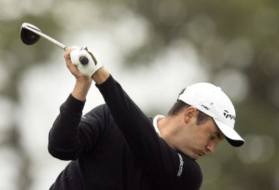 England's Simon Khan warms up before the third round of the 2006 Smurfit Kappa European Open at the Kildare Club Smurfit Course in Straffan, Ireland on July 8, 2006.Photo by Pete Fontaine/WireImage.com