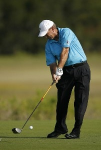 Larry Nelson on the 3rd hole during the first round of the Senior PGA Championship held at Ocean Course at Kiawah Island Golf Resort in Kiawah Island, SC on May 24, 2007. 2007 Senior PGA Championship - First RoundPhoto by Mike Ehrmann/WireImage.com