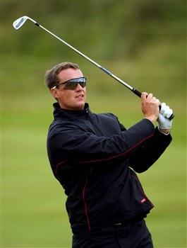 SOUTHPORT, UNITED KINGDOM - JULY 16:  Peter Appleyard of England hits an approach shot on the 3rd hole during the third practice round of the 137th Open Championship on July 16, 2008 at Royal Birkdale Golf Club, Southport, England. (Photo by Andrew Redington/Getty Images)