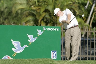 Chad Campbell drives on the 16th tee during the third round of the Sony Open in Hawaii held at Waialae Country Club in Honolulu, Hawaii, on January 13, 2007. Photo by: Marco Garcia/wireimage.comPhoto by: Marco Garcia/wireimage.com