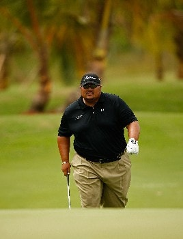 RIO GRANDE, PUERTO RICO - MARCH 20:  Wilfredo Morales of Puerto Rico walks up to the green on the 7th hole during the first round of the Puerto Rico Open presented by Banco Popular held on March 20, 2008 at Coco Beach Golf & Country Club in Rio Grande, Puerto Rico.  (Photo by Mike Ehrmann/Getty Images)
