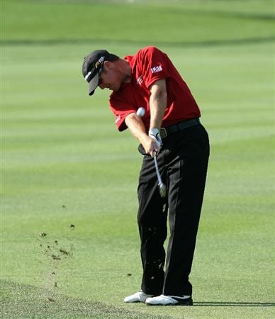 ORLANDO, FL - MARCH 26:  D.A.Points of the USA plays his second shot at the 1st hole during the first round of the Arnold Palmer Invitational Presented by Mastercard at the Bay Hill Club and Lodge on March 26, 2009 in Orlando, Florida  (Photo by David Cannon/Getty Images)