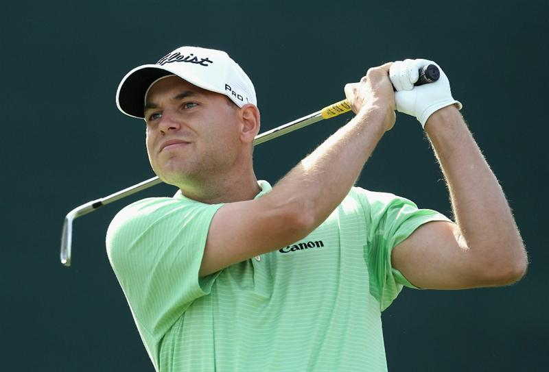 SCOTTSDALE, AZ - FEBRUARY 05:  Bill Haas hits a tee shot on the 16th hole during the second round of the Waste Management Phoenix Open at TPC Scottsdale on February 5, 2011 in Scottsdale, Arizona.  (Photo by Christian Petersen/Getty Images)
