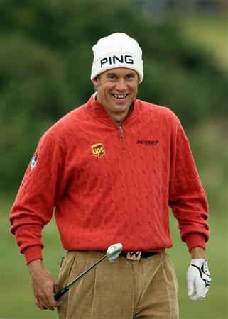 ST ANDREWS, SCOTLAND - OCTOBER 06:  Lee Westwood of England in action during the practice round of The Alfred Dunhill Links Championship at The Old Course on October 6, 2010 in St Andrews, Scotland.  (Photo by Warren Little/Getty Images)