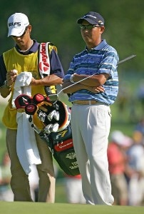 Toru Taniguchi during the second round of the 2006 U.S. Open Golf Championship at Winged Foot Golf Club in Mamaroneck, New York on June 16, 2006.Photo by Sam Greenwood/WireImage.com