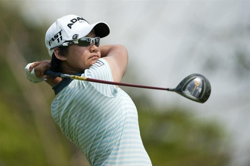 CHON BURI, THAILAND - FEBRUARY 18:  Yani Tseng of Taiwan tees off on the 3rd hole during day two of the LPGA Thailand at Siam Country Club on February 18, 2011 in Chon Buri, Thailand.  (Photo by Victor Fraile/Getty Images)