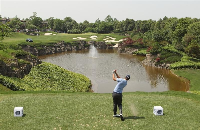 CHENGDU, CHINA - APRIL 24:  Nicolas Colsaerts of Belgium in action during day four of the Volvo China Open at Luxehills Country Club on April 24, 2011 in Chengdu, China.  (Photo by Ian Walton/Getty Images)