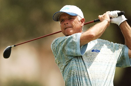 Joe Inman hits from the 11th tee during the first round of the FedEx Kinko's Classic at the Hills Country Club in Austin, Texas April, 29, 2005.Photo by Steve Grayson/WireImage.com