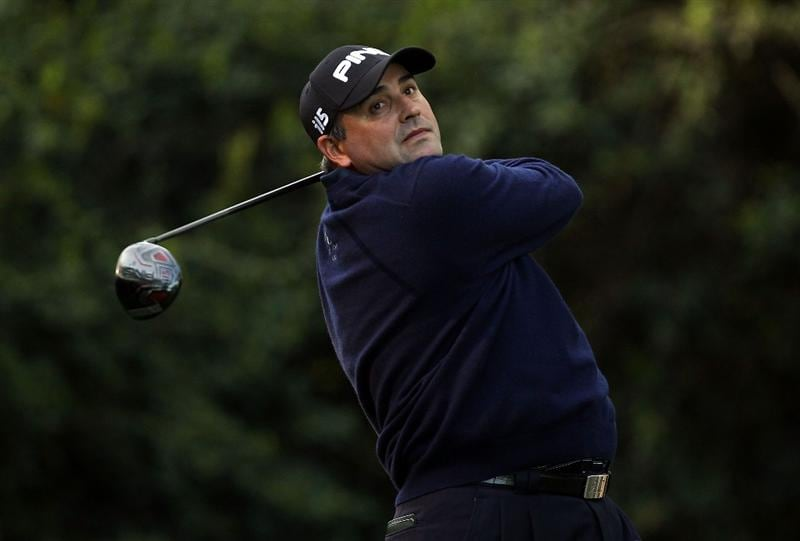 CHARLOTTE, NC - APRIL 29:  Angel Cabrera of Argentina watches his tee shot on the 14th hole during the first round of the Quail Hollow Championship at Quail Hollow Country Club on April 29, 2010 in Charlotte, North Carolina.  (Photo by Streeter Lecka/Getty Images)