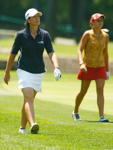 Juli Inkster and Lexi Thompson