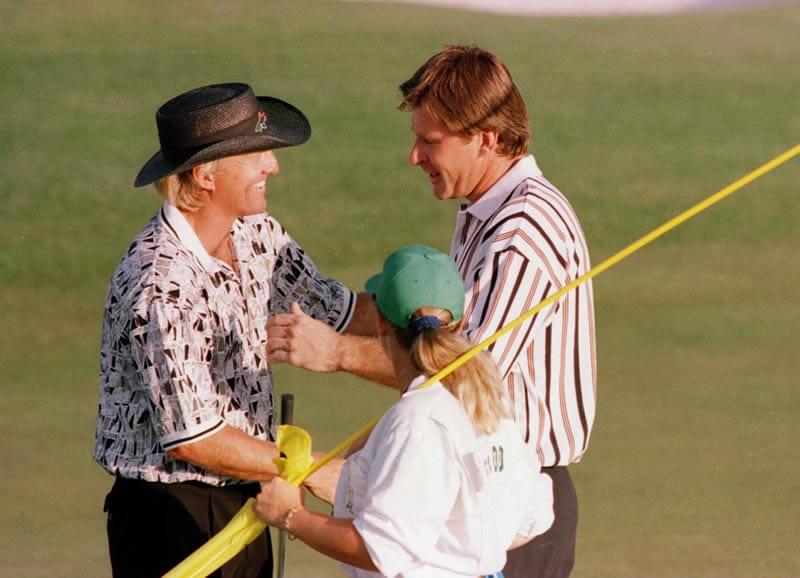 Greg Norman and Nick Faldo