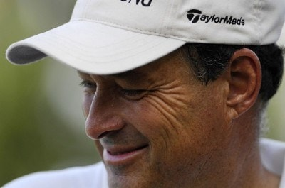 Loren Roberts smiles after finishing at the 18th green during the third round of the Constellation Energy Senior Players Championship at Baltimore Country Club/Five Farms (East Course) October 6, 2007 in Timonium, Maryland. Champions Tour - 2007 Constellation Energy Senior Players Championship - Third RoundPhoto by Jonathan Ernst/WireImage.com