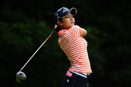 OTTAWA - AUGUST 15:  Ai Miyazato of Japan makes a tee shot during the second round of the CN Canadian Women's Open at the Ottawa Hunt and Golf Club on August 15, 2008 in Ottawa, Ontario, Canada.  (Photo by Robert Laberge/Getty Images)