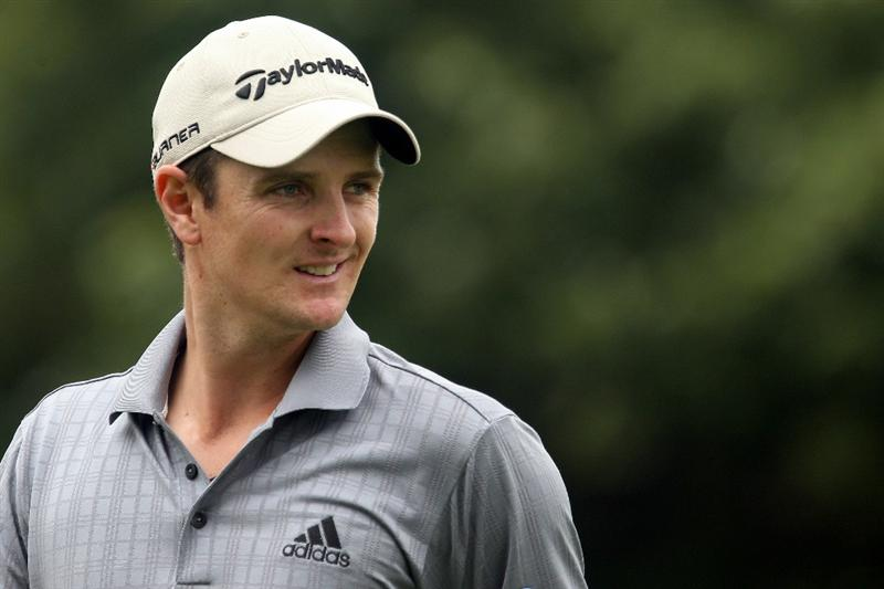 LEMONT, IL - SEPTEMBER 11:  Justin Rose of England smiles as he walks off the 15th hole during the third round of the BMW Championship at Cog Hill Golf & Country Club on September 11, 2010 in Lemont, Illinois.  (Photo by Scott Halleran/Getty Images)