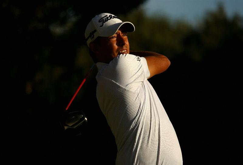 SOTOGRANDE, SPAIN - OCTOBER 28:  Pablo Larrazabal of Spain tee's off at the 17th during the first round of the Andalucia Valderrama Masters at Club de Golf Valderrama on October 28, 2010 in Sotogrande, Spain.  (Photo by Richard Heathcote/Getty Images)