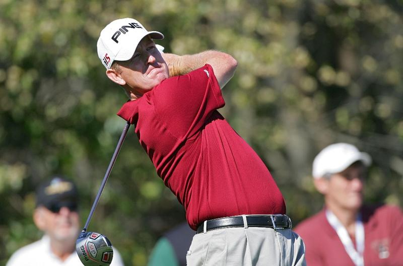 PALM HARBOR, FL - MARCH 19:  Jeff Maggert hits a drive during the second round of the Transitions Championship at the Innisbrook Resort and Golf Club held on March 19, 2010 in Palm Harbor, Florida.  (Photo by Michael Cohen/Getty Images)