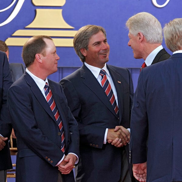 Fred Couples and Bill Clinton