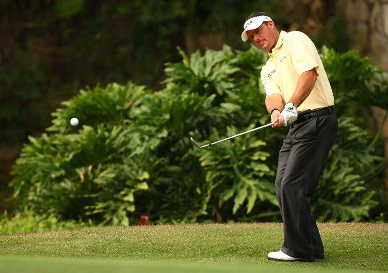 SHENZHEN, CHINA - NOVEMBER 28:  Alex Cejka of Germany in action during the Fourballs on the 3rd day of the Omega Mission Hills World Cup on the Olazabal course on November 28, 2009 in Shenzhen, China.  (Photo by Ian Walton/Getty Images)