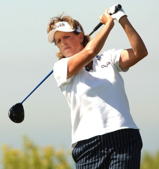 Rosie Jones in action during the first round of the 2005 Office Depot Championship at Trump National Golf Club Los Angeles in Rancho Palos Verdes, California September 30, 2005.