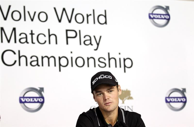 CASARES, SPAIN - MAY 17:  Martin Kaymer of Germany addresses a press conference ahead of  the Volvo World Match Play Championship at Finca Cortesin on May 17, 2011 in Casares, Spain.  (Photo by Warren Little/Getty Images)