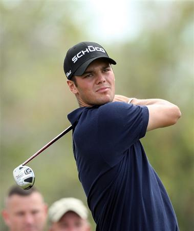 DORAL, FL - MARCH 13:  Martin Kaymer of Germany plays his tee shot at the 14th hole during the second round of the World Golf Championships-CA Championship at the Doral Golf Resort & Spa on March 13, 2009 in Miami, Florida  (Photo by David Cannon/Getty Images)