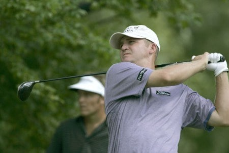 Jason Bohn during the first round of the 2005 Buick Open at Warwick Hills Golf and Country Club in Grand Blanc, Michigan on July 28, 2005.Photo by Michael Cohen/WireImage.com
