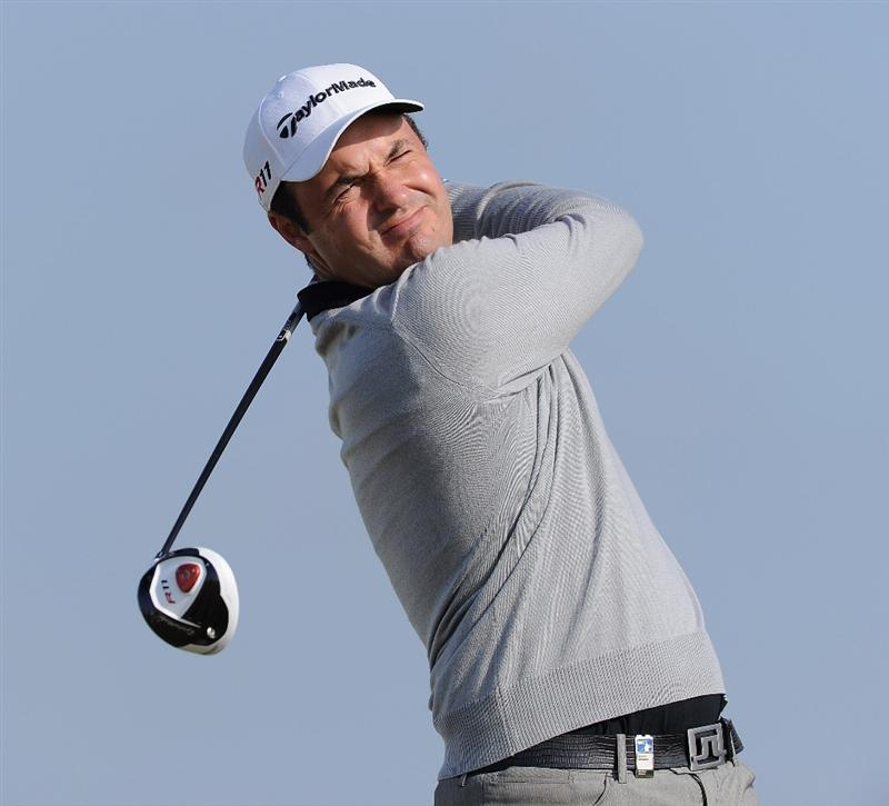 RAGUSA, ITALY - MARCH 18:  Simon Khan of England plays his tee shot on the 14th hole during the second round of the Sicilian Open at the Donnafugata golf resort and spa on March 18, 2011 in Ragusa, Italy.  (Photo by Stuart Franklin/Getty Images)