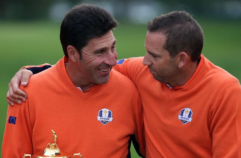 Jose Maria Olazabal and Sergio Garcia