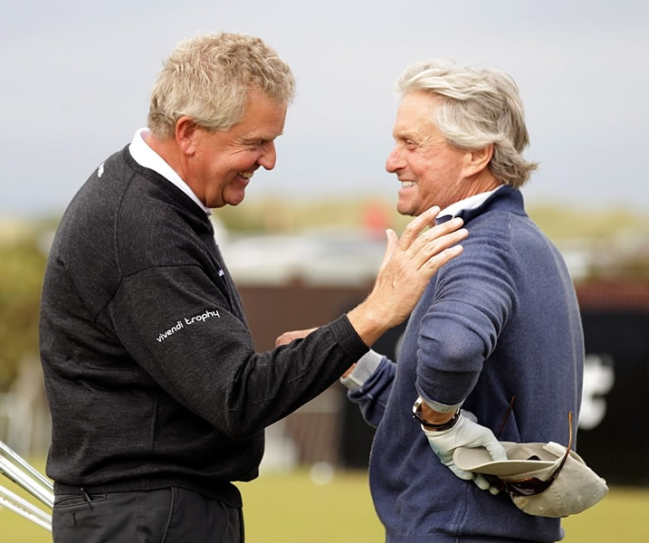 Colin Mongomerie and Michael Douglas