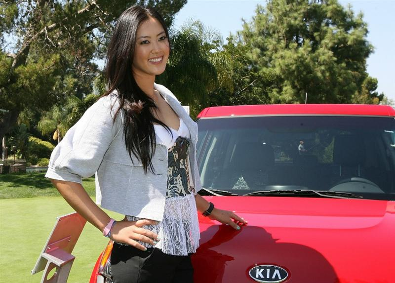 CITY OF INDUSTRY, CA - SEPTEMBER 18:  Michelle Wie smiles after a press conference to announce the Kia Classic LPGA event to be held in March of 2011 on September 18, 2010 at Industry Hills Golf Club at Pacific Palms in City of Industry, California.  (Photo by Jeff Golden/Getty Images)