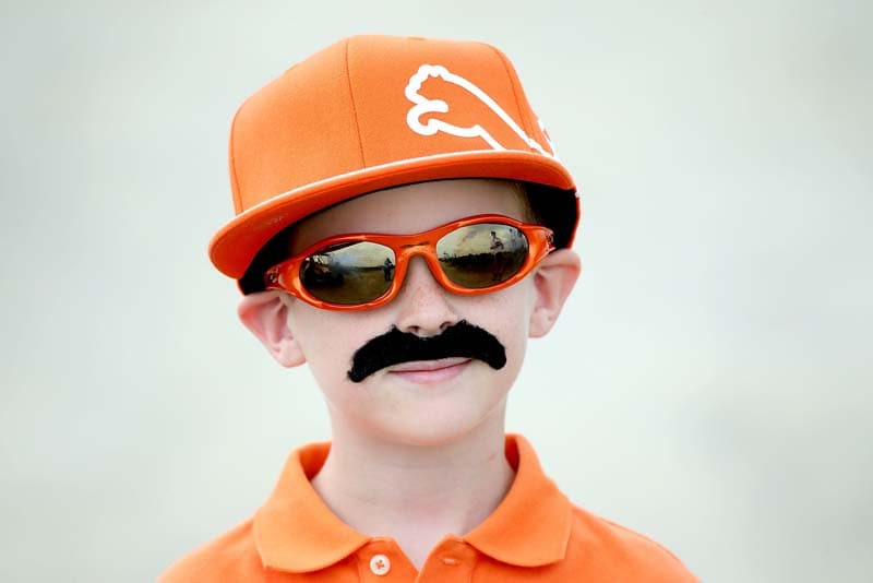 Young fan dressed as Rickie Fowler