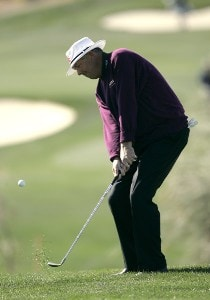 Kirk Triplett in action during the second round of the Bob Hope Chrysler Classic held at The Classic Club in Palm Desert, California on Thursday, January 19, 2006.Photo by Sam Greenwood/WireImage.com