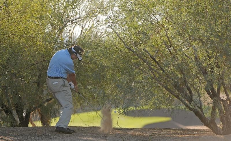 SCOTTSDALE, AZ - OCTOBER 24: Mathias Gronberg hits out of the left rough on the 7th  hole during the second round of  the Fry's.Com Open held at Grayhawk Golf Club on October 24, 2008 in Scottsdale, Arizona.(Photo by Marc Feldman/Getty Images)