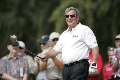 Fuzzy Zoeller smiles on the first tee during the first round of the 2006 Turtle Bay Championship - Turtle Bay Resort, Kahuku, Oahu, HawaiiPhoto by: Chris Condon/PGA TOUR