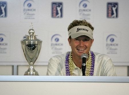 PGA Tour-Zurich Classic of New Orleans-Final Round:  Tim Petrovic wins the Zurich Classic being played at The TPC of New Orleans in New Orleans, Louisiana on May 1, 2005. Petrovic won the event on the first playoff hole against James Driscoll at -13 under par.Photo by Mike Ehrmann/WireImage.com