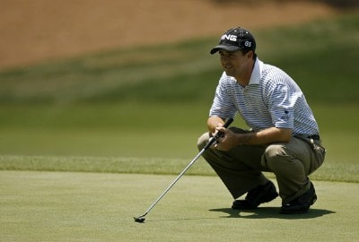 Charles Warren lines up a putt during the first round of the AT&T Classic held at TPC Sugarloaf in Duluth, GA on May 17, 2007. PGA TOUR - 2007 AT&T Classic - First RoundPhoto by Mike Ehrmann/WireImage.com