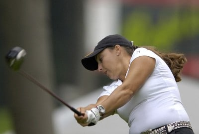 Kelli Kuehne during the first round of  the Canadian Women's Open at the London Hunt and Country Club in London, Ontario on August 10, 2006.Photo by Steve Levin/WireImage.com