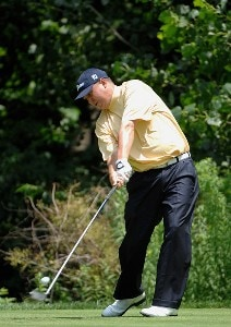 SILVIS, IL - JULY 14:  Jason Dufner  during the third round of The John Deere Classic at the TPC Deere Run on July 14, 2007 in Silvis, Illinois.   (Photo by Marc Feldman/WireImage) *** Local Caption *** Jason Dufner PGA TOUR - 2007 John Deere Classic - Third RoundPhoto by Marc Feldman/WireImage) *** Local Caption *** Jason Dufner