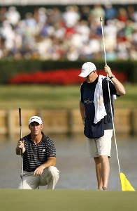 Peter Lonard during the third round of THE PLAYERS Championship held on THE PLAYERS Stadium Course at TPC Sawgrass in Ponte Vedra Beach, Florida, on May 12, 2007. Photo by Hunter Martin/WireImage.com