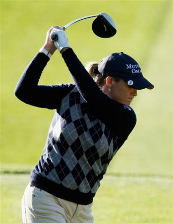ORLANDO, FL - DECEMBER 02:  Cristie Kerr hits her tee shot on the 16th hole during the first round of the LPGA Tour Championship at the Grand Cypress Resort on December 2, 2010 in Orlando, Florida.  (Photo by Scott Halleran/Getty Images)