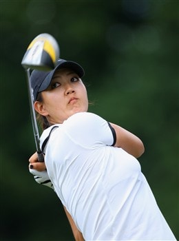 MUNICH, GERMANY - MAY 31:  Michelle Wie of USA plays her tee shot on the sixth during the third round of the Hypo Vereinsbank Ladies German Open Golf at Golfpark Gut Hausern on May 31, 2008 near Munich, Germany.  (Photo by Stuart Franklin/Bongarts/Getty Images)