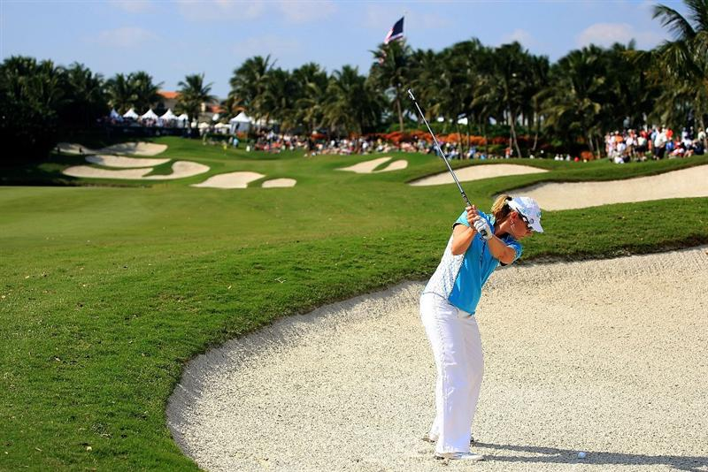 WEST PALM BEACH, FL - NOVEMBER 21:  Annika Sorenstam of Sweden hits her second shot on the ninth hole during the second round of the ADT Championship at the Trump International Golf Club on November 21, 2008 in West Palm Beach, Florida.  (Photo by Scott Halleran/Getty Images)